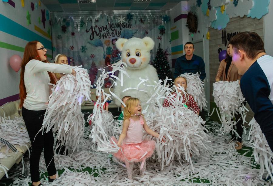 детский праздник бумажное шоу 1